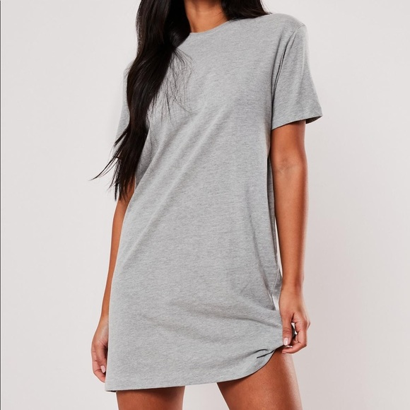 Simple Grey Tee Shirt Dress